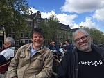 Wolf and Jeroen in Amsterdam