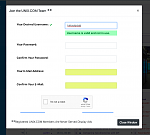 Username Checker in Registration Modal