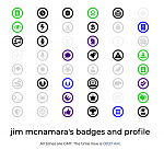 "Jim's New ""Non Coding Admin"" Badge"