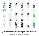 """Jim's New """"Non Coding Admin"""" Badge"""