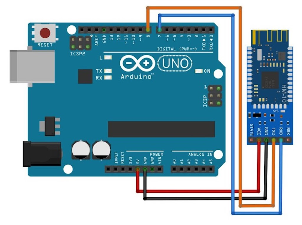 Basic Arduino UNO Bluetooth Testing with the BLE 4.0 (CC2541, MLT-BT04 IC)-hc-10jpg