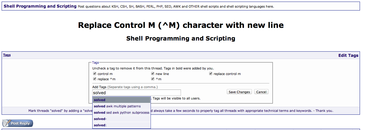 Replace Control M (^M) character with new line - Page 3
