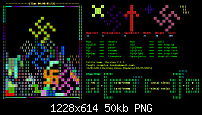 Tetris Game -- based on a shell script (new algorithm)-gnome3-png