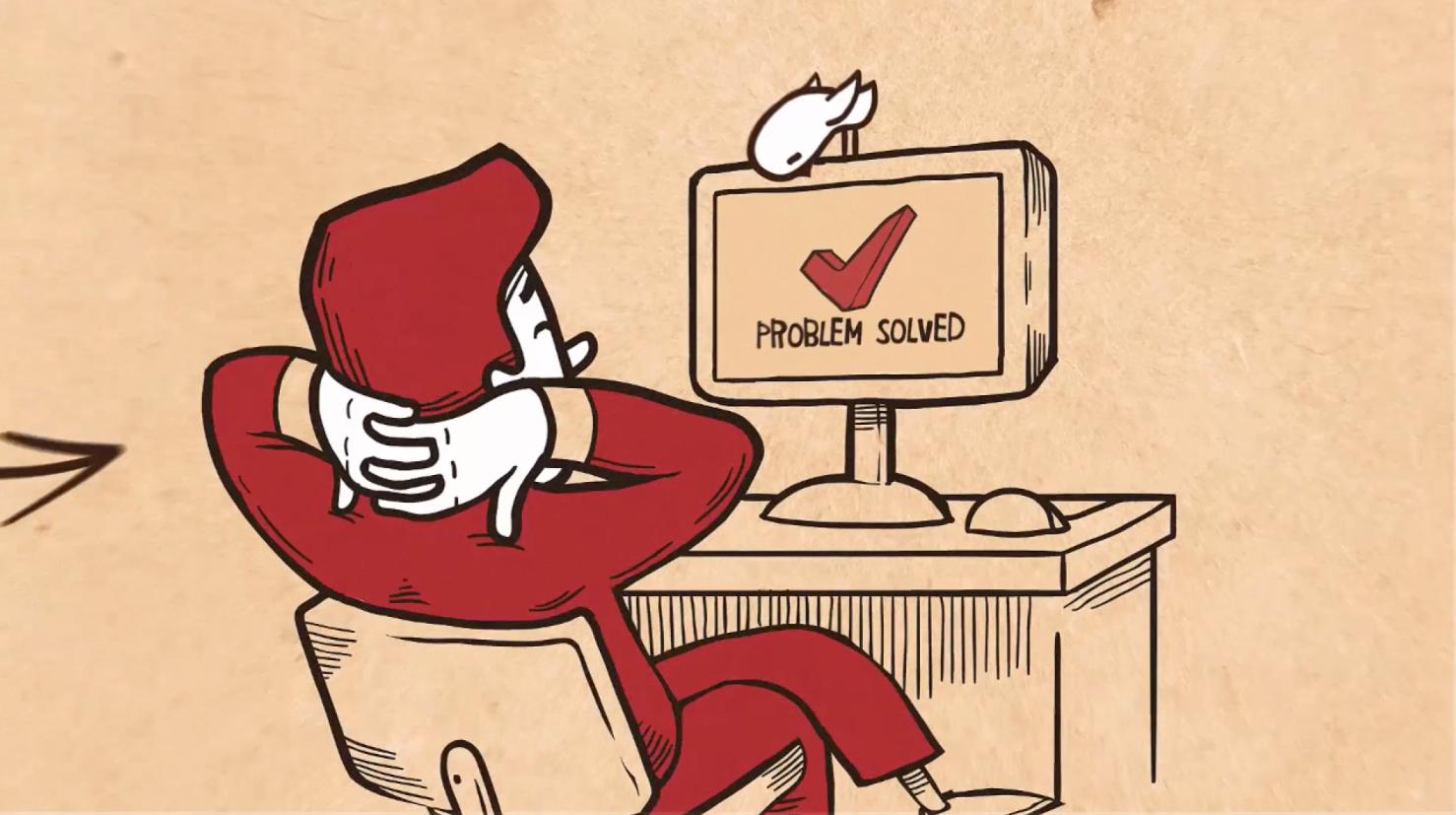 Cartoon Explainer - Problem Solved