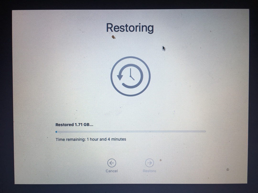 Attempting to Restore MacOS