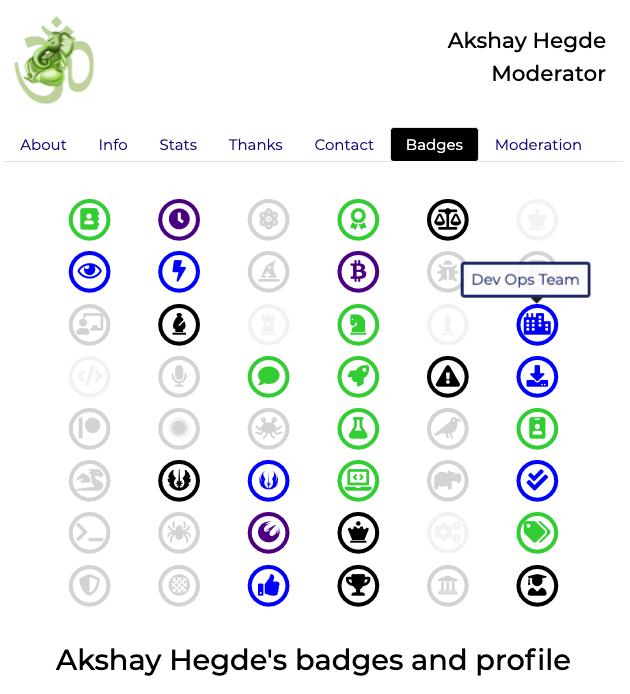 Akshay's Blue Dev Opens Badge