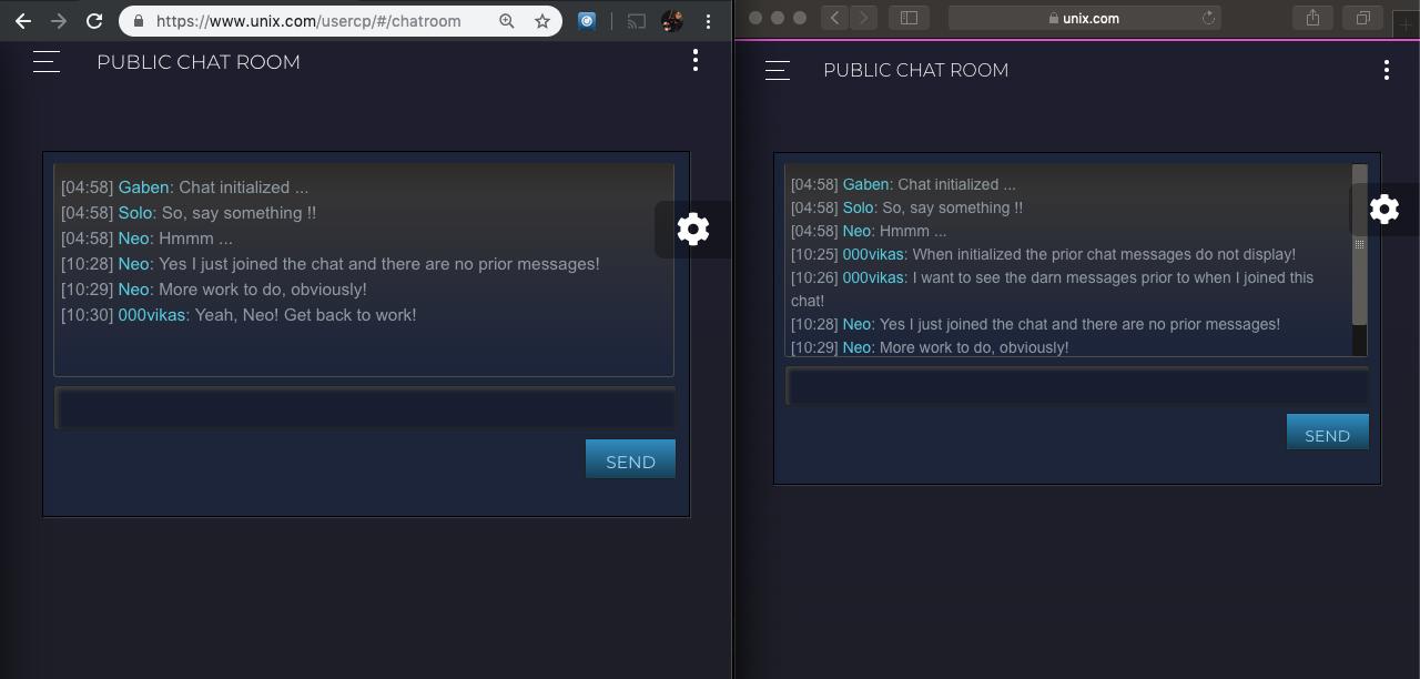 Public Chat Room Prototype