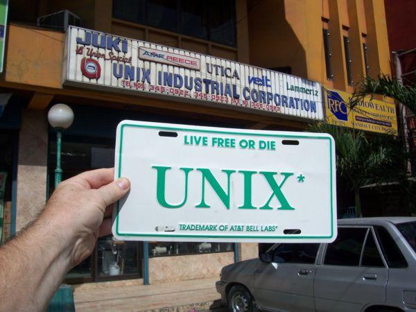AT&T Unix license plate Cebu PH 12/1/2009